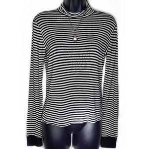 Rue21 Long Sleeve Striped Thin Turtleneck Shirt -M